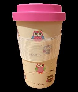 یک-فنجان-بامبو-اکولوژیکی-به-شکل-جغد-است